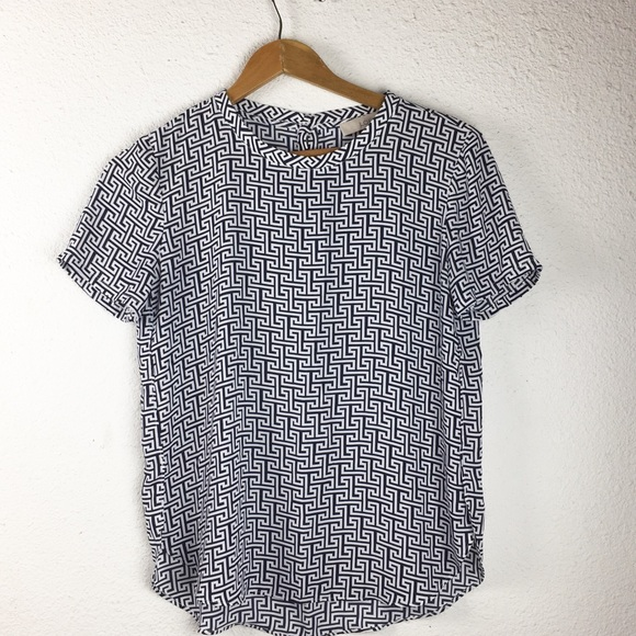 LOFT Tops - 3/$25 Ann Taylor Loft Geometric Career Top XS C